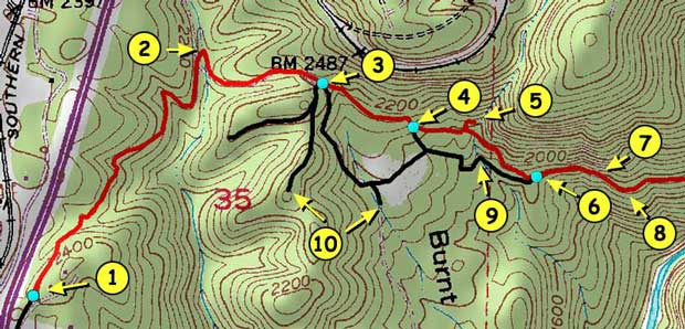 Stevens Trail Detail Map
